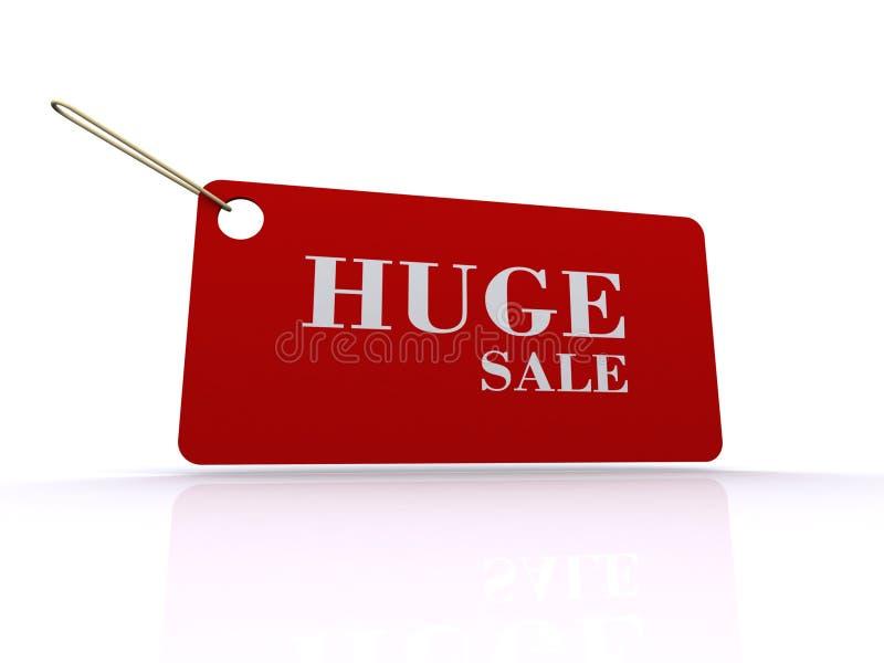 巨大的销售额标签或标签 免版税库存照片