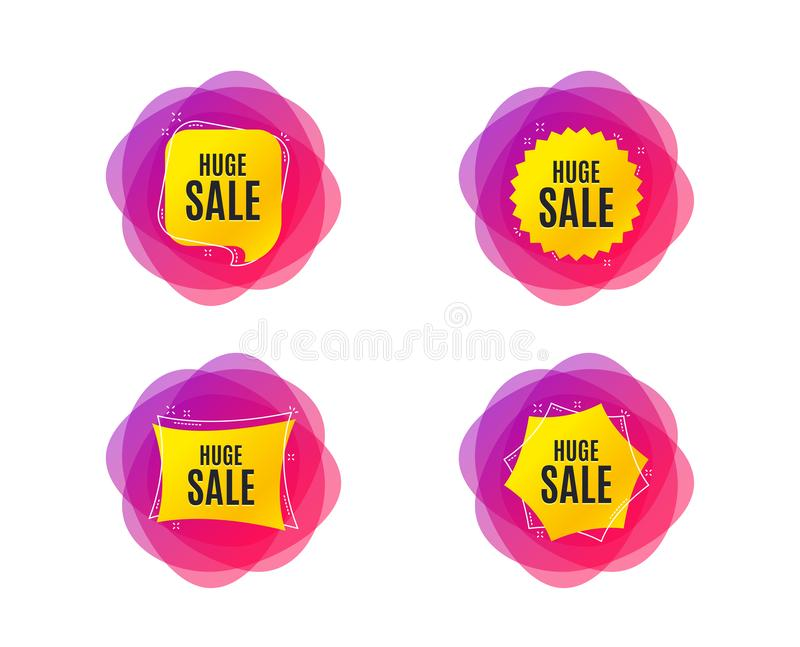 巨大的销售额 特价优待价格标志 向量 库存例证