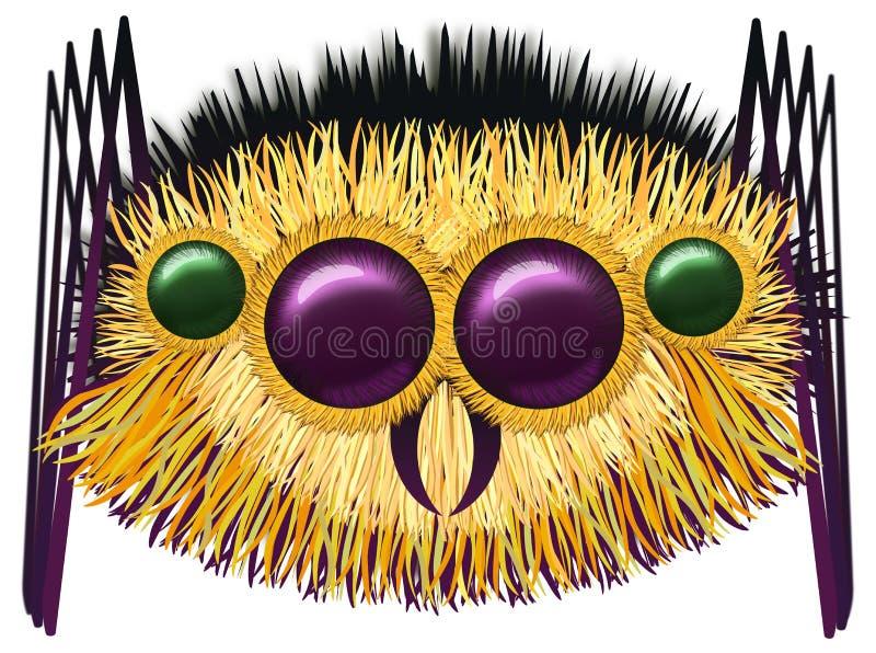 巨大的长毛的蜘蛛 向量例证