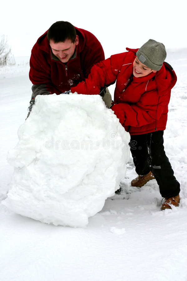 巨大的雪球冬天 免版税图库摄影