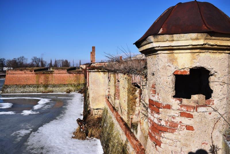 巨大的巴洛克式古典主义者庄园住宅 Holic庄园住宅,斯洛伐克 历史对象 库存照片