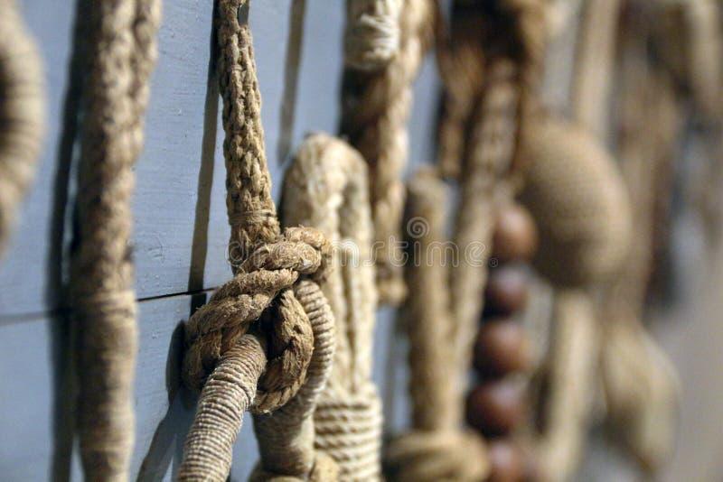 巨大的绳索船舶结 库存照片