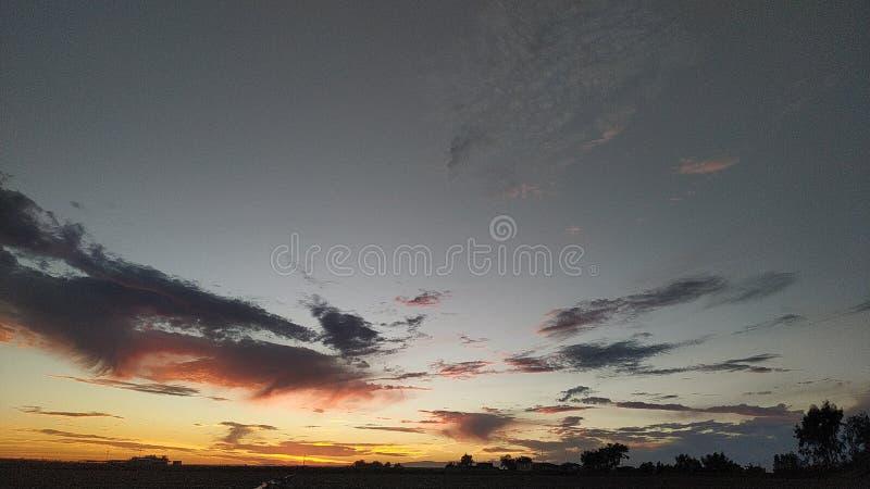 巨大自然的壮观的日落 库存照片