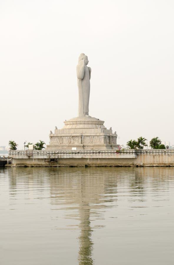 菩萨雕象,海得拉巴 免版税库存照片