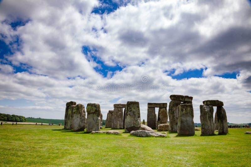 巨石阵史前纪念碑威尔特郡西南英格兰英国 免版税库存照片