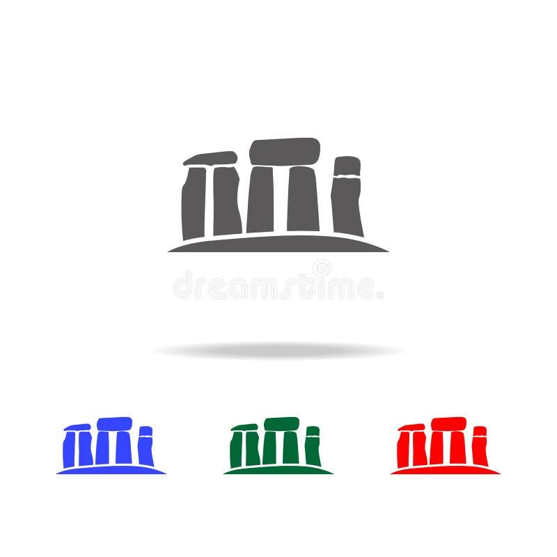巨石阵向象扔石头 英国多色的象的元素 优质质量图形设计象 websi的简单的象 皇族释放例证