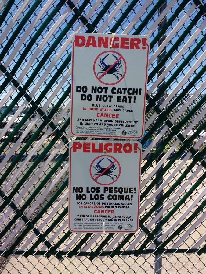 巨蟹星座危险,蓝色爪螃蟹,美国 免版税库存照片