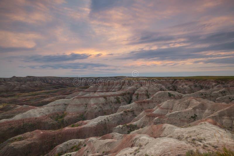 巨足兽在恶地国家公园俯视 免版税库存照片