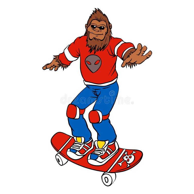 巨足兽溜冰者 库存例证