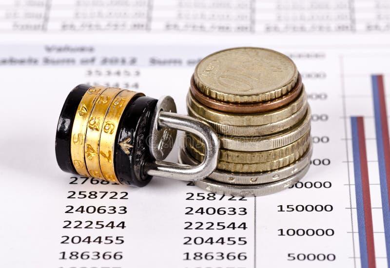 巩固与锁的金钱 向量例证