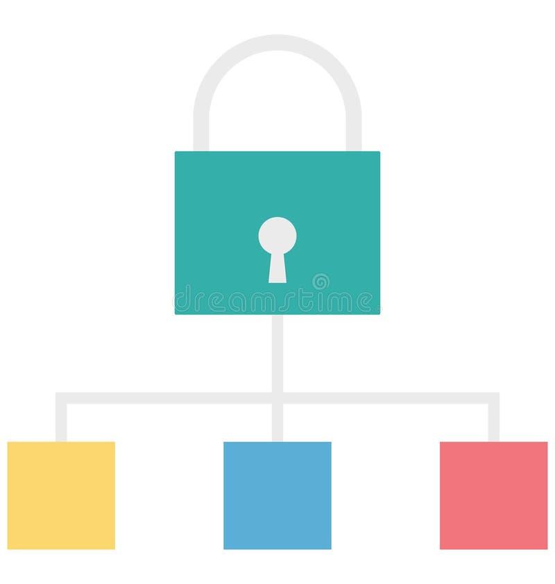 巩固可以容易地修改和编辑的阶层颜色被隔绝的传染媒介象 库存例证