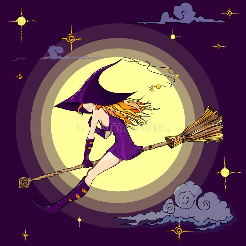 巫婆例证为万圣节 向量例证
