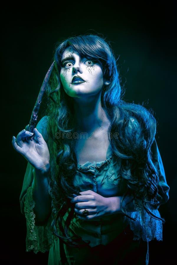巫婆和不可思议的鞭子 免版税库存图片