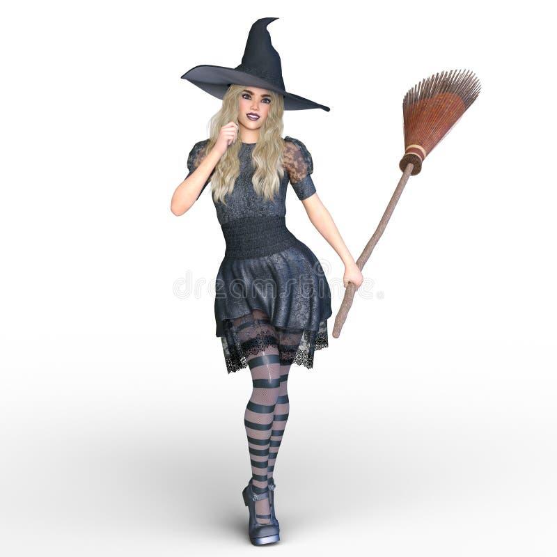 巫婆服装妇女 库存例证