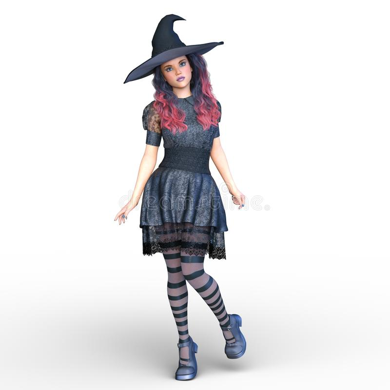 巫婆服装妇女 向量例证