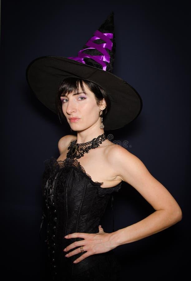 年轻巫婆档案  库存照片