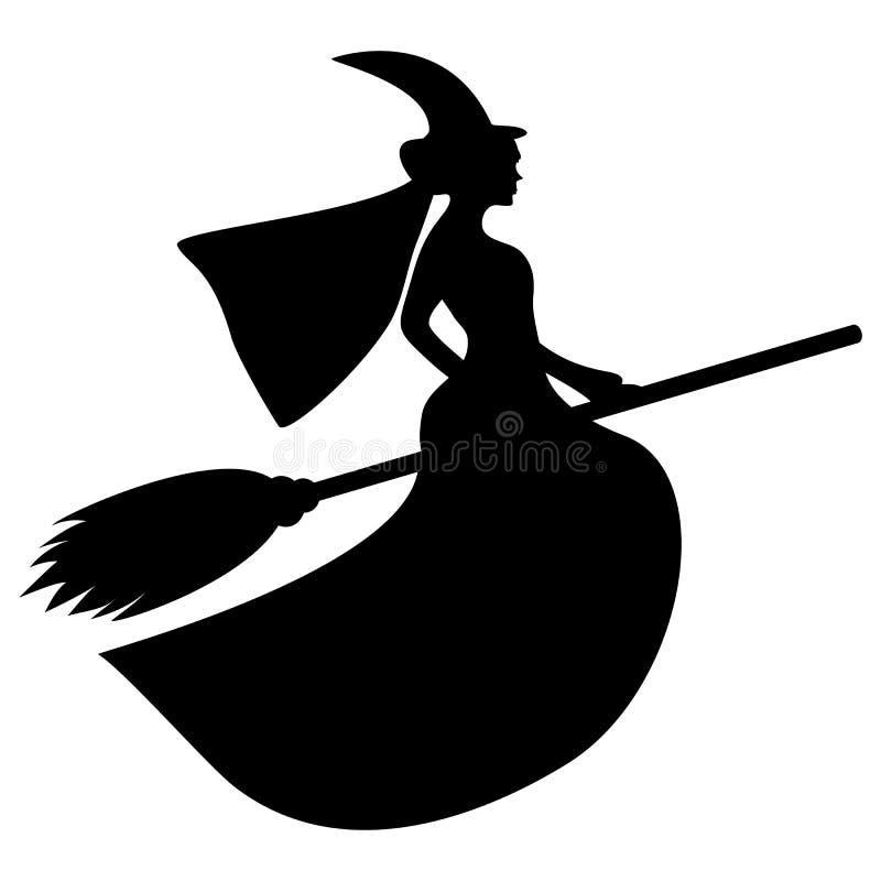 巫婆的剪影 皇族释放例证