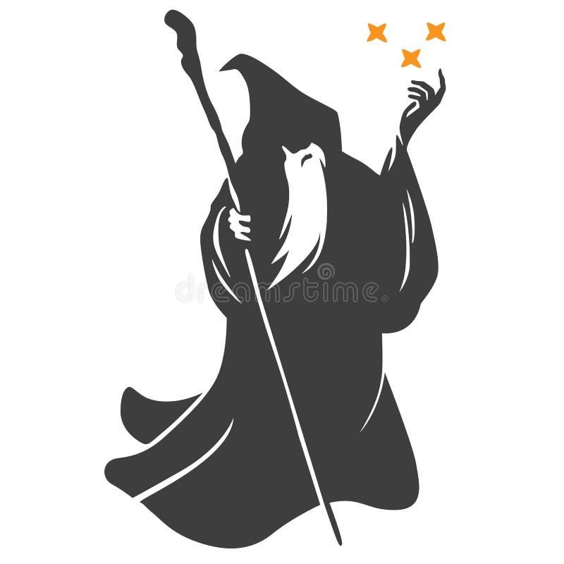 巫术师动画片传染媒介 向量例证