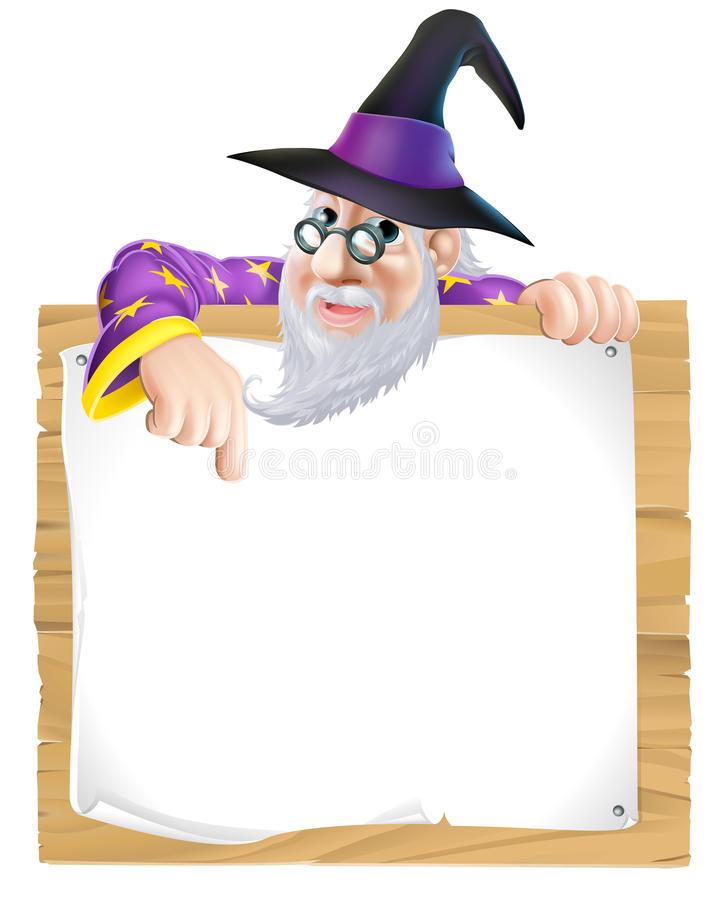 巫术师标志 向量例证