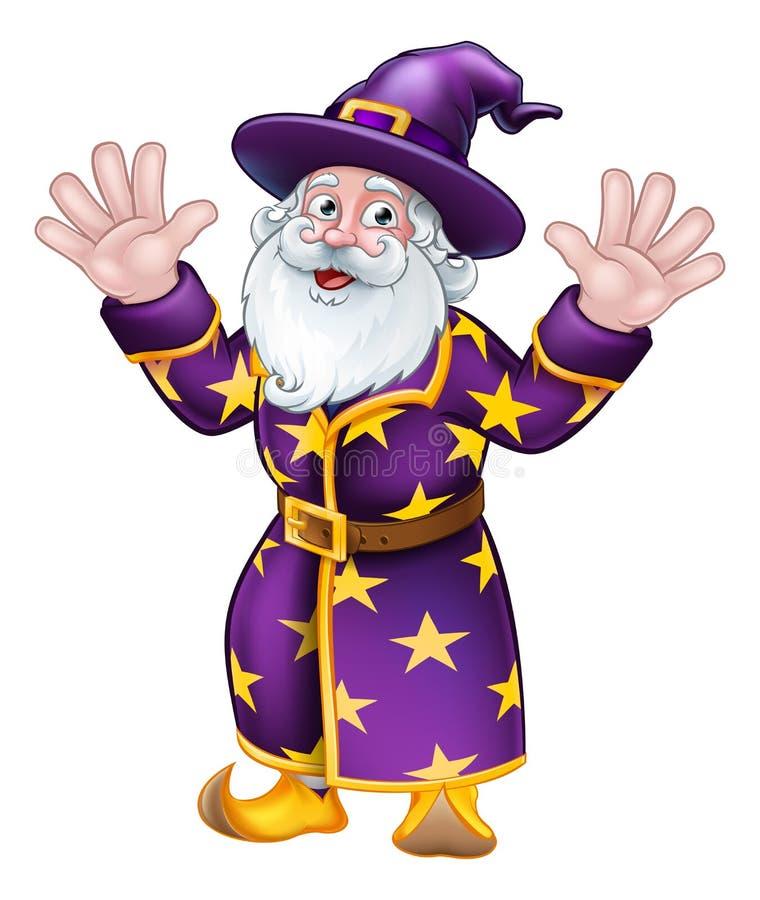 巫术师漫画人物吉祥人 向量例证