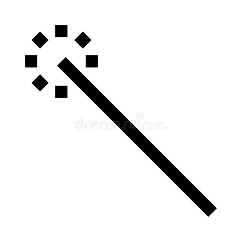 巫术师稀薄的线传染媒介象 库存例证