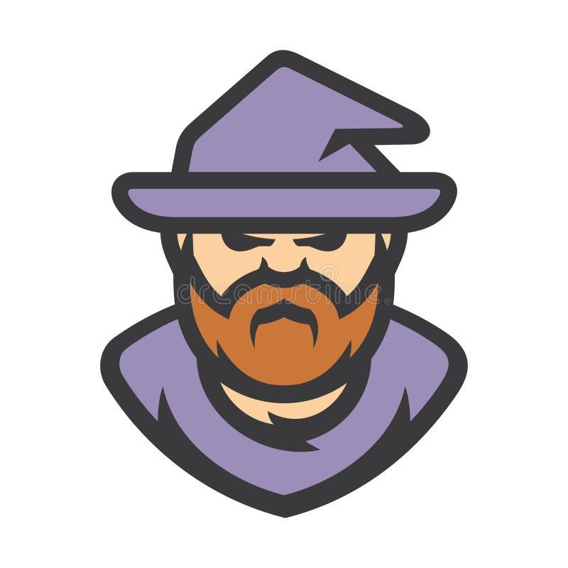 巫术师魔术师传染媒介动画片例证 库存例证