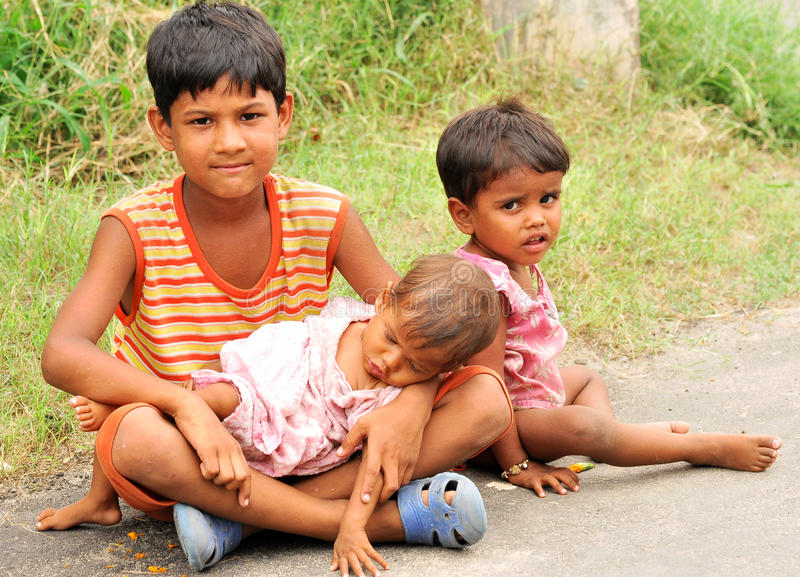 差和贫穷 库存照片