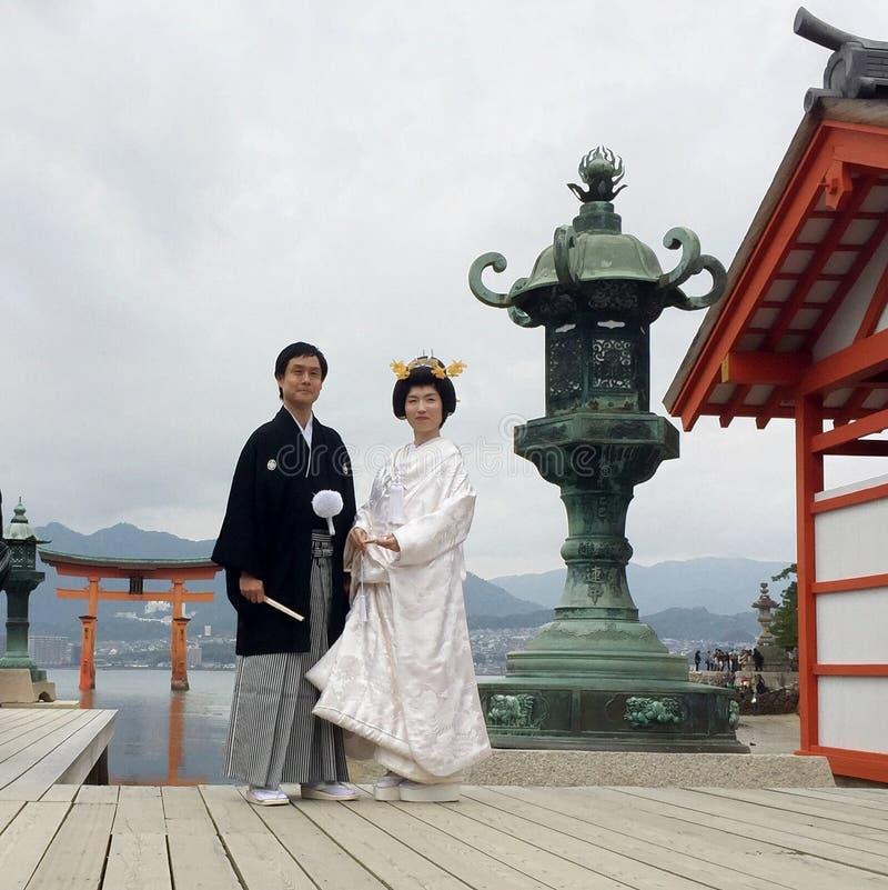 已婚夫妇在日本 免版税图库摄影