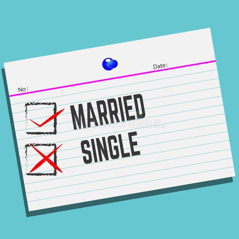 已婚或唯一在与创造性的设计的纸您的贺卡的 皇族释放例证