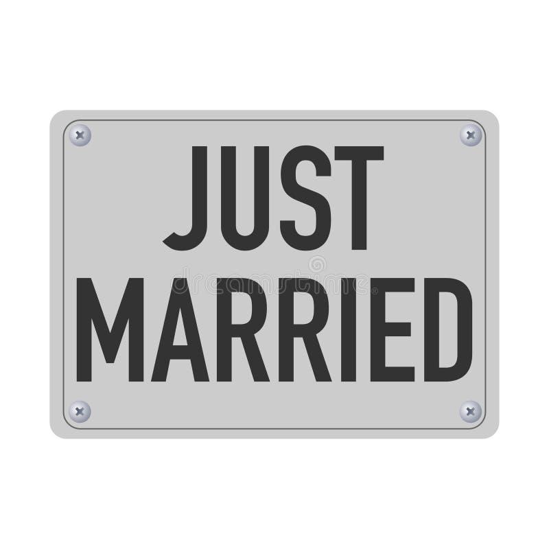 已婚金属片汽车的 向量例证