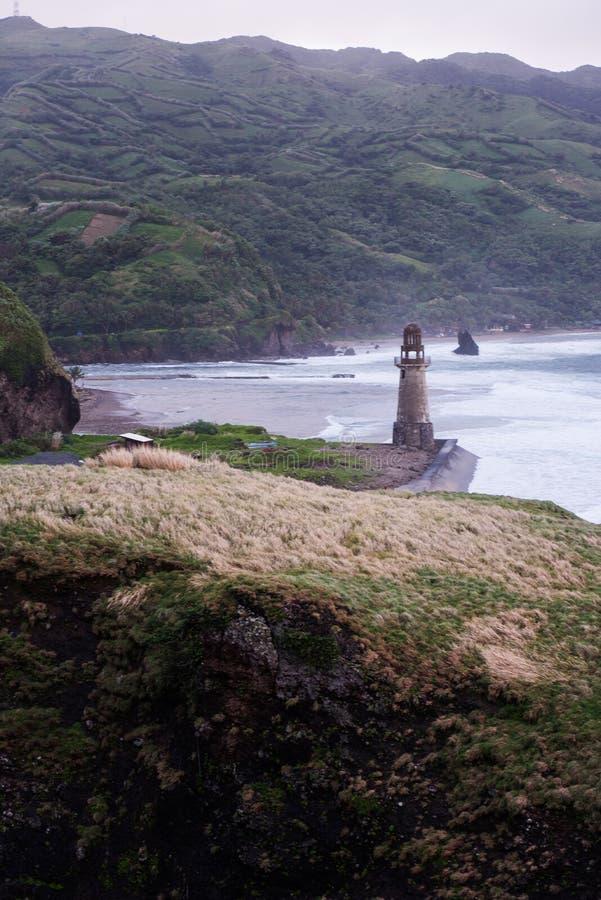 巴丹群岛省,菲律宾岩石海岸  免版税库存图片