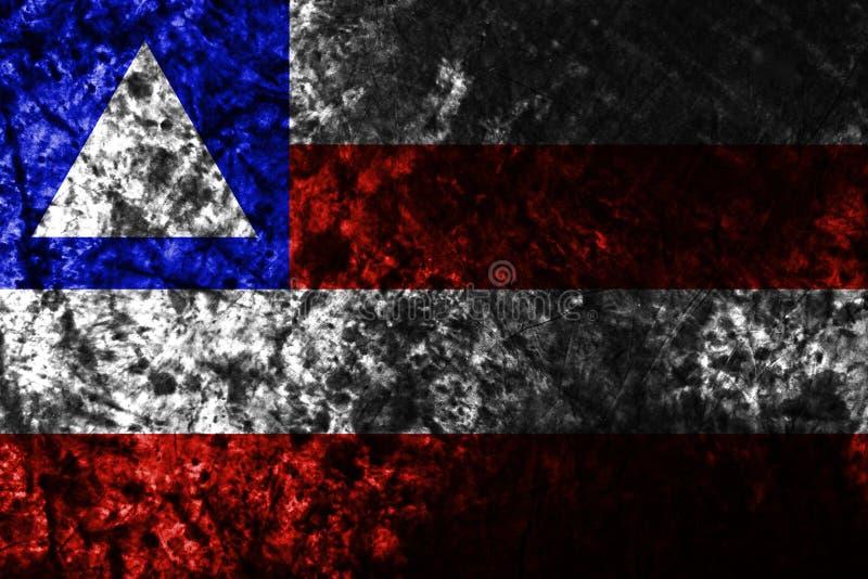 巴伊亚在老肮脏的墙壁,国家上的难看的东西旗子的巴西 库存例证
