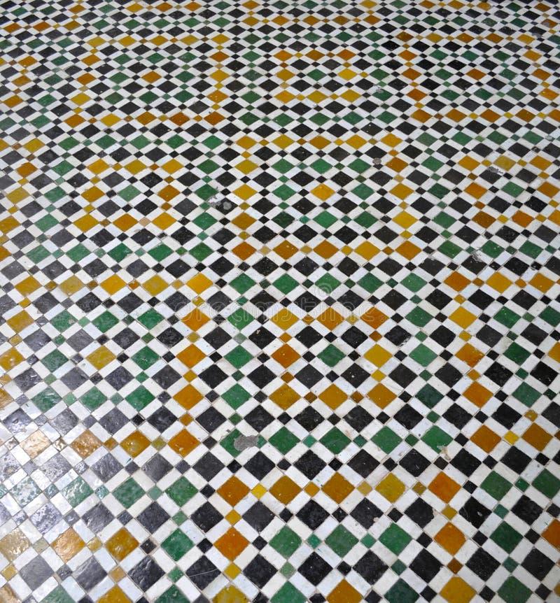 巴伊亚宫殿楼层,马拉喀什 库存图片
