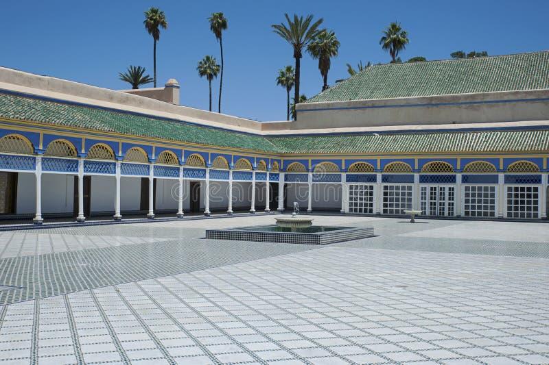 巴伊亚宫殿,马拉喀什,摩洛哥-第8, 2017年 免版税库存图片