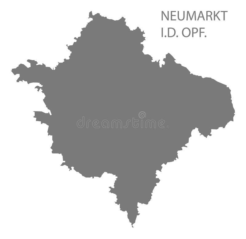 巴伐利亚德国的诺伊马尔克特灰色县地图 皇族释放例证