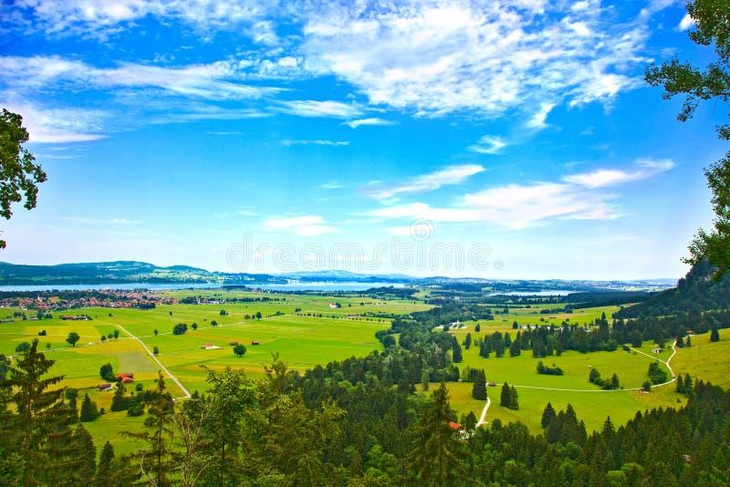 巴伐利亚横向。 Schwangau, Forggensee湖 库存图片