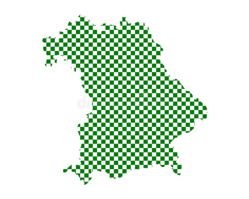 巴伐利亚的地图棋盘样式的 库存例证