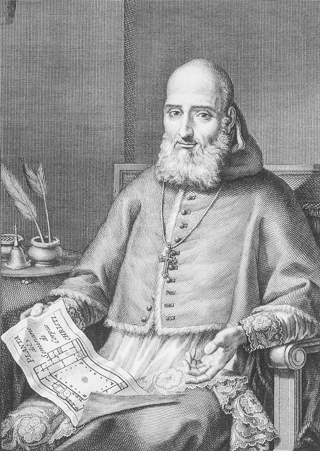 巴伦西亚的胡安de里贝拉画象、大主教和总督 免版税库存图片