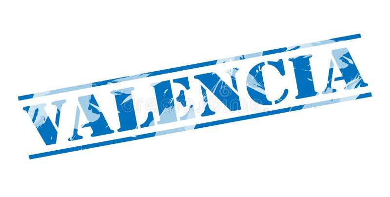 巴伦西亚蓝色邮票 向量例证