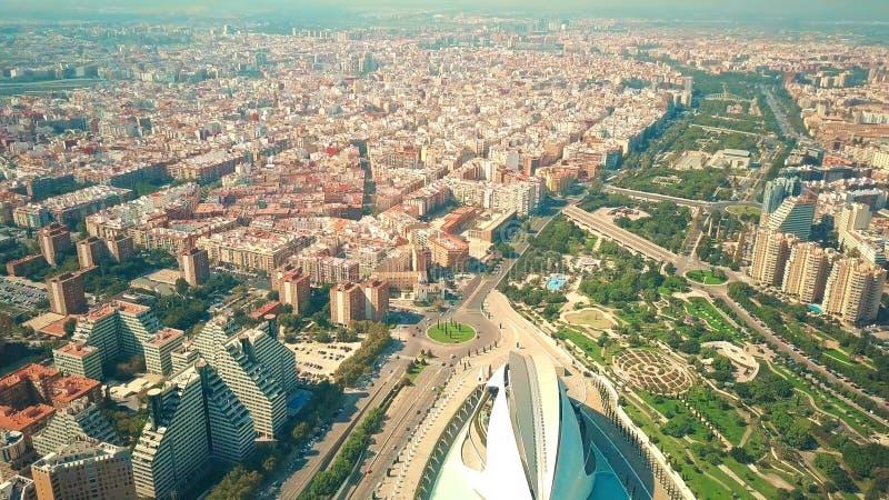 巴伦西亚,西班牙鸟瞰图  库存图片