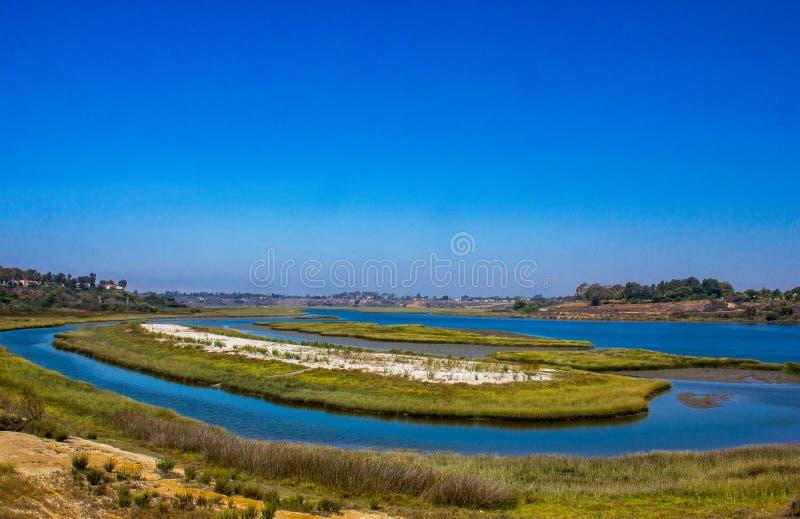 巴克湾的看法在新港海滨 免版税图库摄影