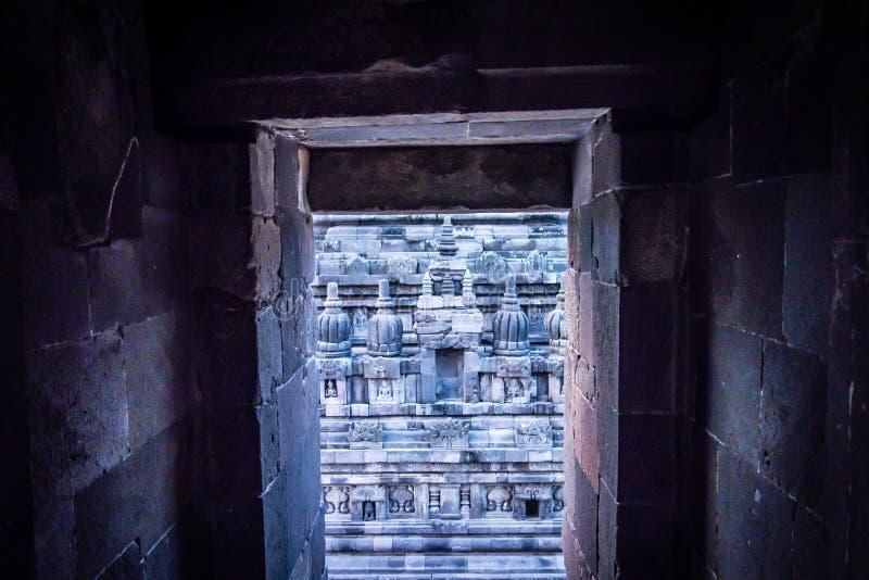 巴兰班南寺庙,日惹,印度尼西亚 免版税库存图片