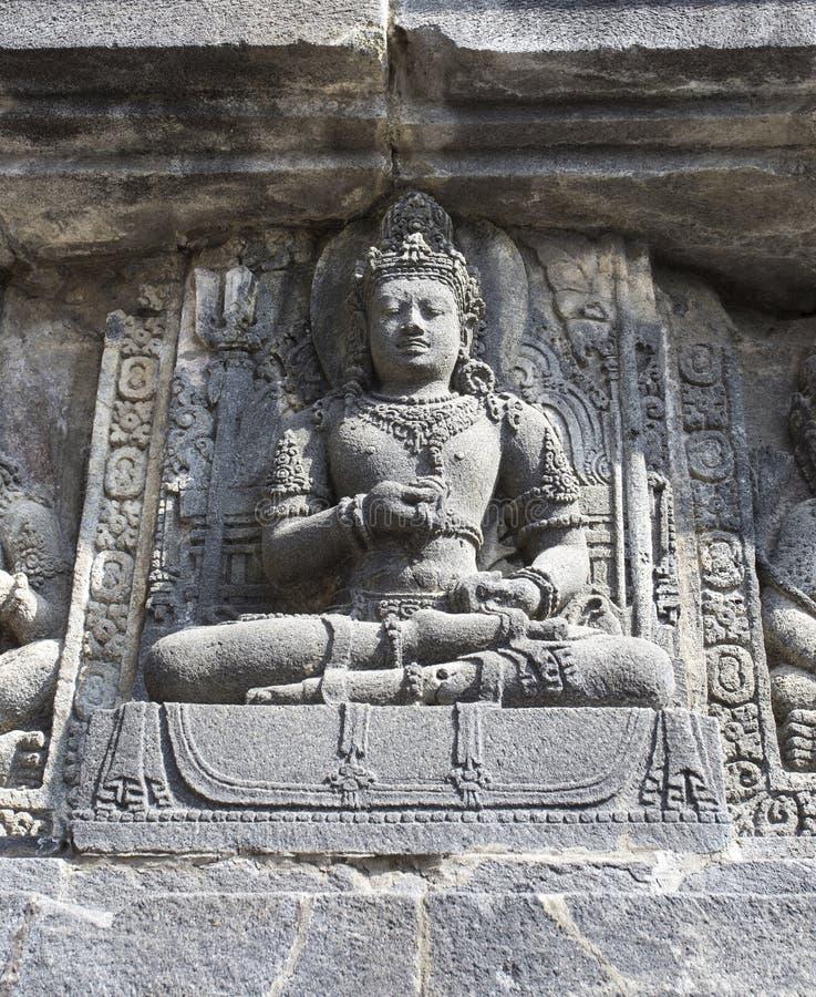 巴兰班南细节,这个寺庙位于Java 免版税库存图片