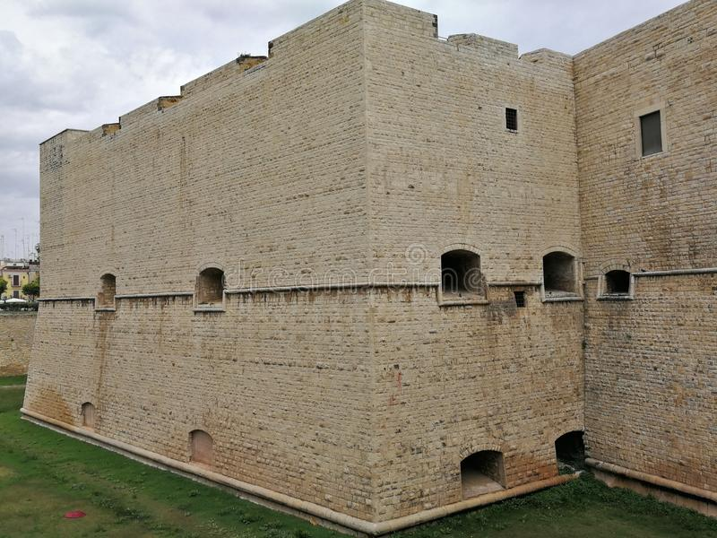 巴列塔- Bastione圣玛丽亚del帝堡城Svevo 免版税图库摄影