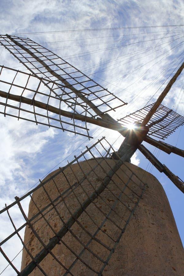 巴利阿里群岛磨房西班牙风风车 免版税库存图片