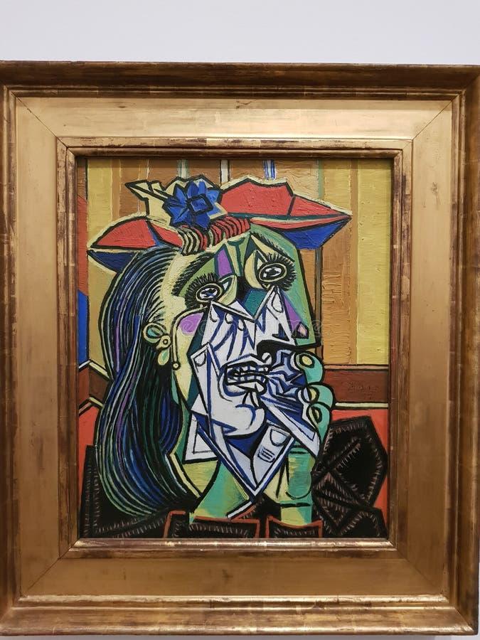 巴勃罗・毕卡索,妇女哭泣 免版税库存照片