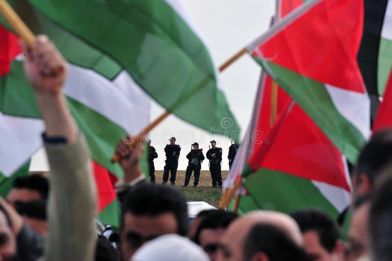 巴勒斯坦人抗议 免版税库存图片
