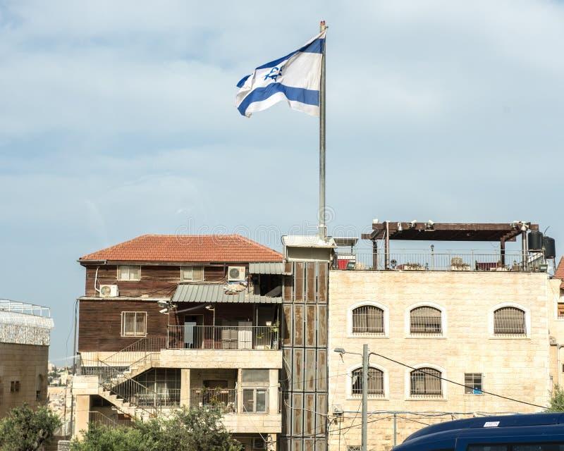 巴勒斯坦橄榄山的以色列解决 库存图片
