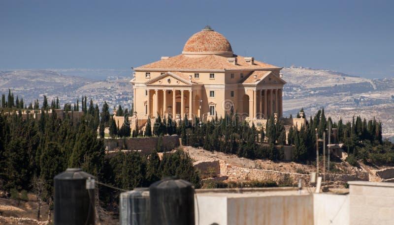 巴勒斯坦的议院在纳布卢斯 库存照片