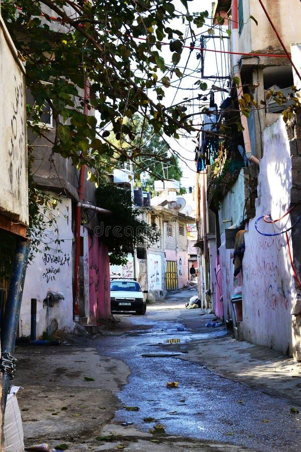 巴勒斯坦难民营在Westbank,巴勒斯坦,以色列 图库摄影